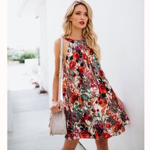 Smell The Roses Swing Dress